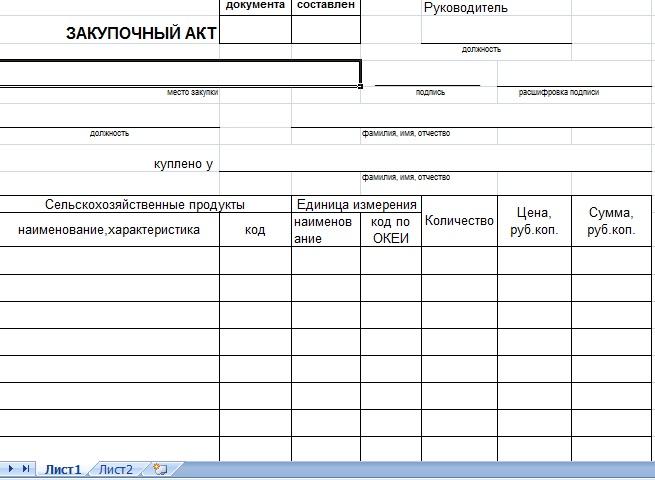 финансово-юридический акт закупа у физического лица образец Вакансии