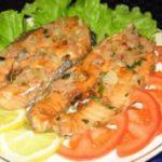 Пряные стейки лосося